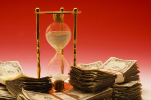 Hourglass and US Currency