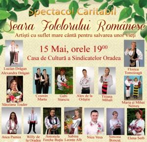 spectacol folcloric caritabil 15 mai