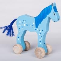 cal de lemn albastru