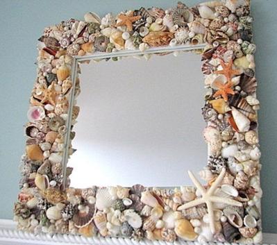 oglinda cu scoici
