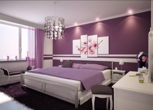 pat dormitor culoare mov sursa foto cdn.home-designing dot com