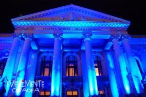 Teatrul Regina Maria Oradea albastru 02 Aprilie Ziua Mondiala de Constientizare a Autismului