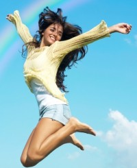 energie stare de bine femeie sarind sursa foto blis punct co punct nz