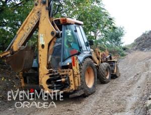 Escavator drum in lucru