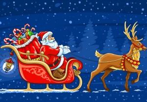 Mos Crăciun sanie reni Evenimente Oradea