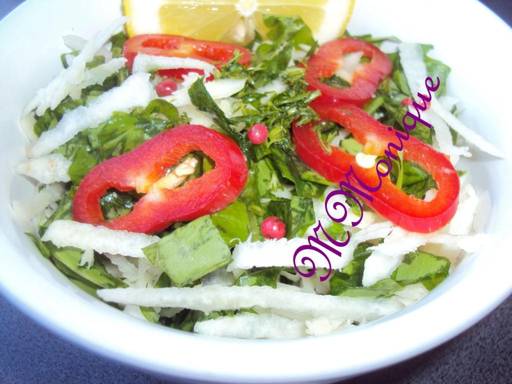 salata de leurda si gulie