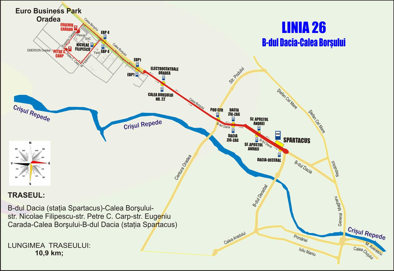 Schita traseu Linia 26