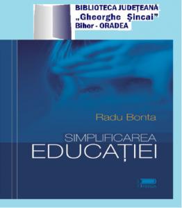 radu bonta simplificarea educatiei