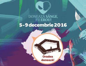 campanie donare sange, evenimente oradea, 5 - 9 decembrie